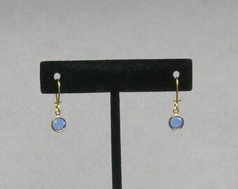 September Birthstone- Sapphire Drop GP Earrings