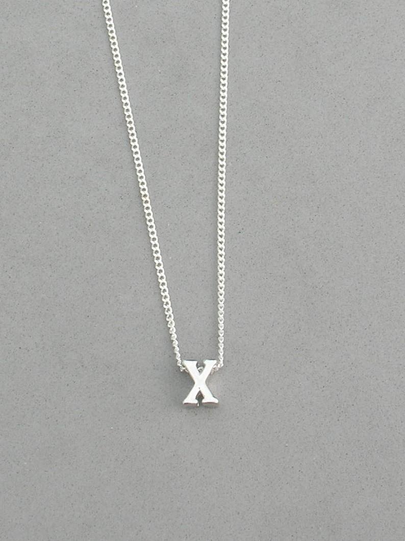 Rhodium Initial x Necklace R13