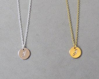 Engraved Initial J Necklace SHS