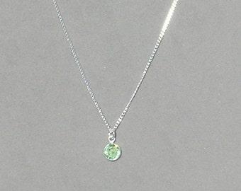 August Birthstone- Peridot Drop Necklace