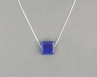 Cobalt Blue Porcelain Bead Necklace