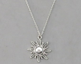 sun necklace sterling silver