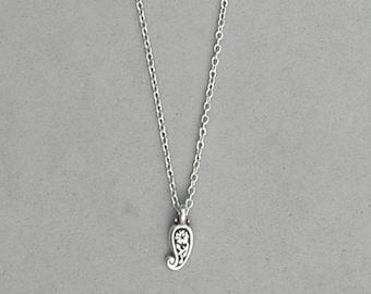 Antique Silver Paisley Necklace