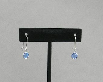 September Birthstone- Sapphire Drop Earrings