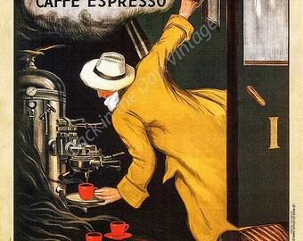 POSTER VICTORIA ARDUINO CAFFE ESPRESSO COFFE MACHINE ITALY VINTAGE REPRO FREE SH