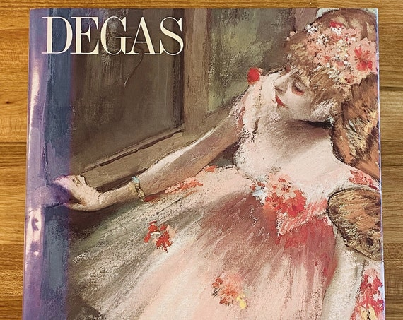 Degas 19th Century Painter Vintage 1991 Art Book Large Hardcover 324 Illustrations