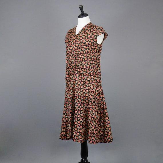 Vintage 1920s Print Dress, 20s Dress, Geometric P… - image 3