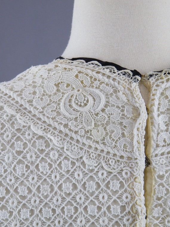 Antique 1900s Lace Blouse, Edwardian Gibson Girl … - image 10
