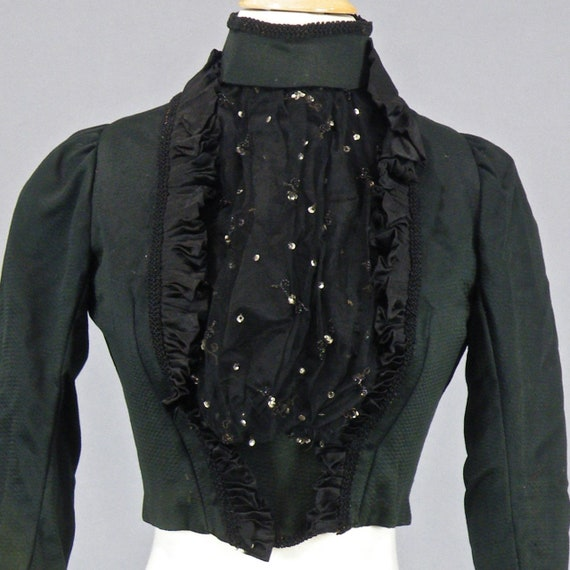 Victorian Bodice, Antique 1890s Top, Embellished D