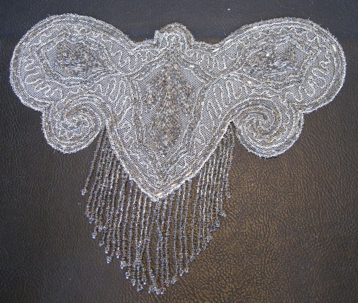1920s Flapper Beaded Butterfly Applique for Dress 20s ...