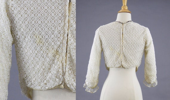 Antique 1900s Lace Blouse, Edwardian Gibson Girl … - image 5