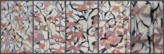 1930s Floral Silk Haori Jacket, Vintage 30s Japan… - image 10