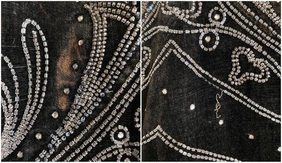 1920s Beaded Velvet Dress, Vintage 20s Dress, Roa… - image 8
