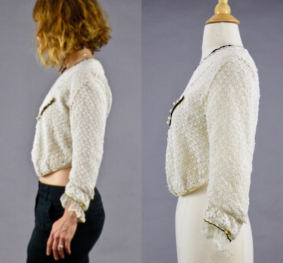 Antique 1900s Lace Blouse, Edwardian Gibson Girl … - image 4