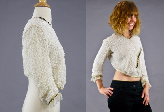 Antique 1900s Lace Blouse, Edwardian Gibson Girl … - image 3
