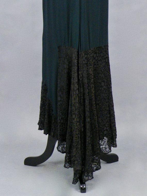 1930s Dress, Vintage 30s Black Silk Chiffon and L… - image 7