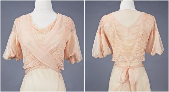 Vintage 1930s Blush Pink Bias Cut 30s Dress and W… - image 7