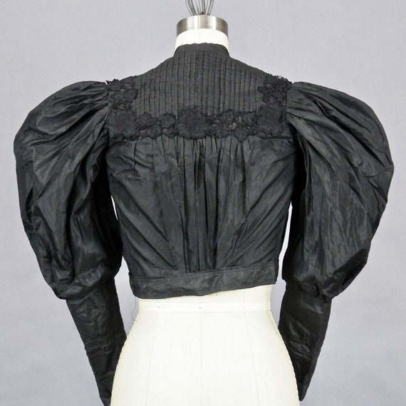 1890s Blouse with Dramatic Leg of Mutton Sleeves,… - image 5