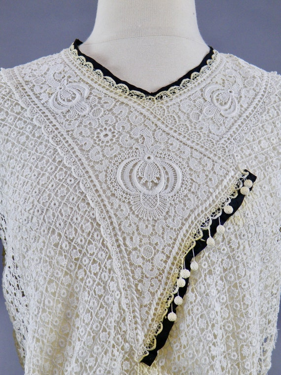 Antique 1900s Lace Blouse, Edwardian Gibson Girl … - image 6