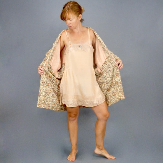 1920s Step-In Chemise, 20s Lingerie, Roaring 20s Camisole and Knickers Combination