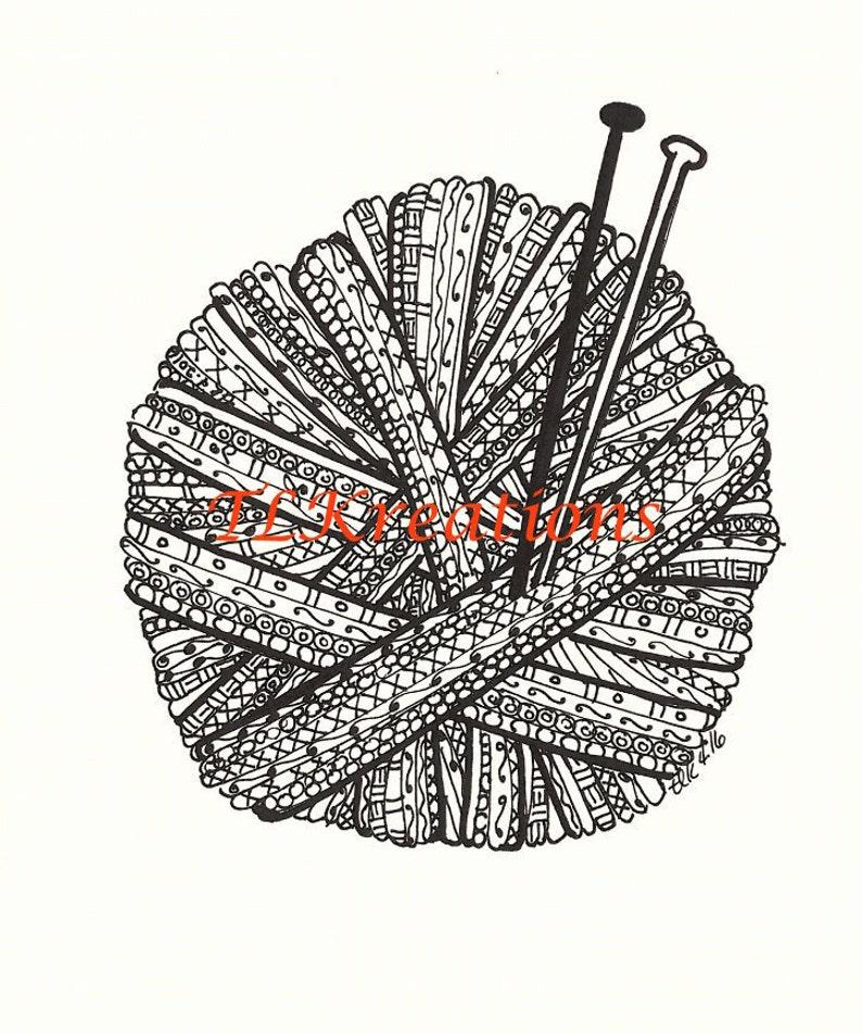 Yarn Ball Zentangle image 0