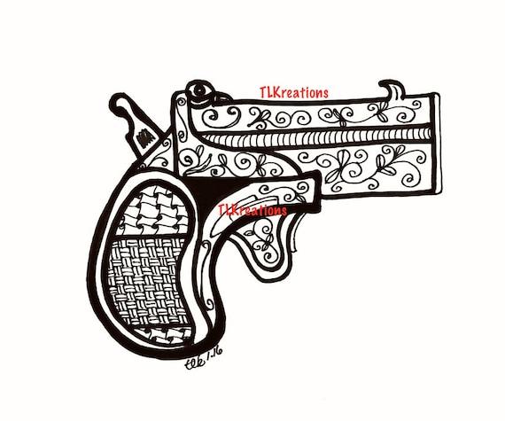 Página Para Colorear Pistola De Mano