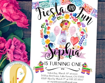 Fiesta Birthday Party Invitation, Fiesta Invitation, First Birthday Party Invitation, Fiesta and Fun, DIY, Printed or Printable Invitations