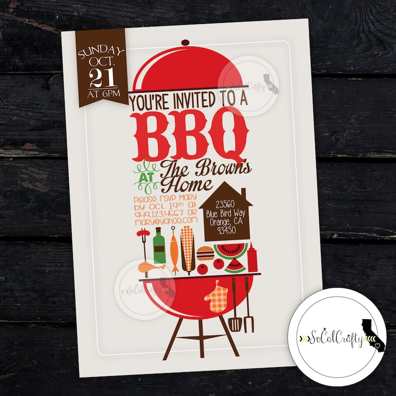 photograph regarding Free Printable Cookout Invitations identify BBQ Social gathering Invitation, Picnic Invite, Cookout, Summer months, Family members Reunion, Business enterprise Picnic, Do it yourself, Revealed or Printable Invites, Totally free Delivery