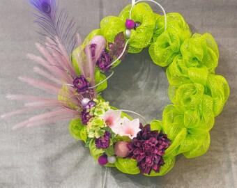 Neon Green Wreath