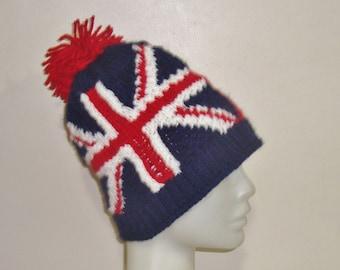 fc0cea2b045 Canadian Flag   Union Jack Flag Beanie Hat
