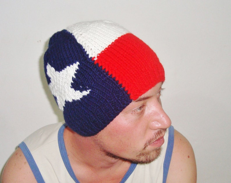 195aabc7 Texas Flag Hat Mens Hats Winter Texan Gifts Gift For Him Men Hand Knit  Beanie Hat