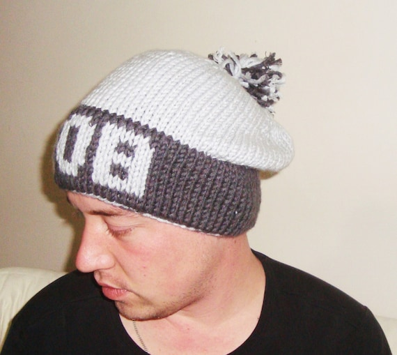 32dcd5bf49f Personalized Gift for Men Name Knit Winter Mens Hat Gift