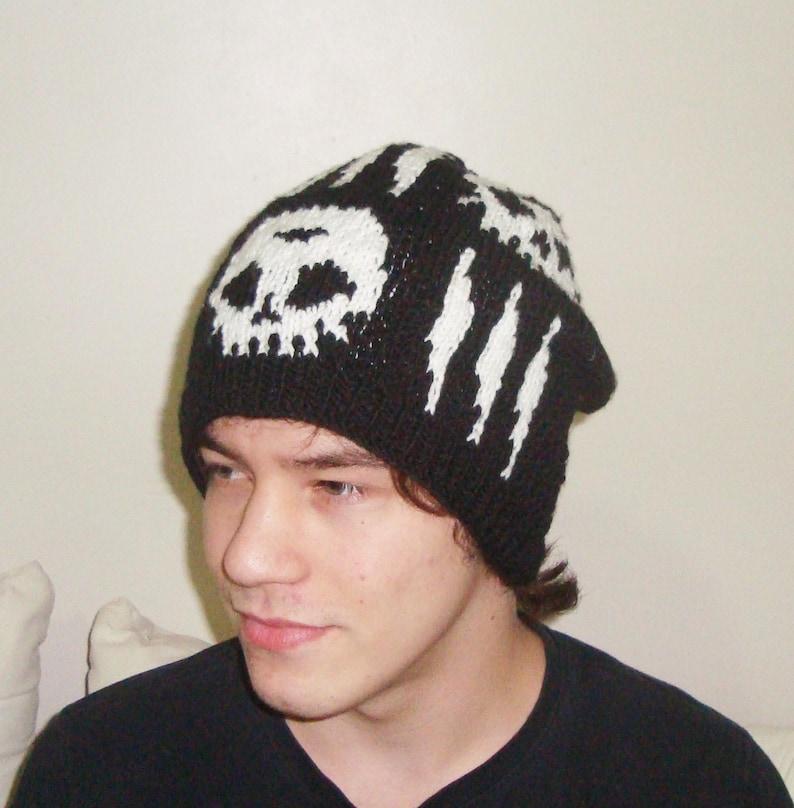 b8a54453591 Hand Knit Skull Cap Skull Hat Women Skull Hats For Men