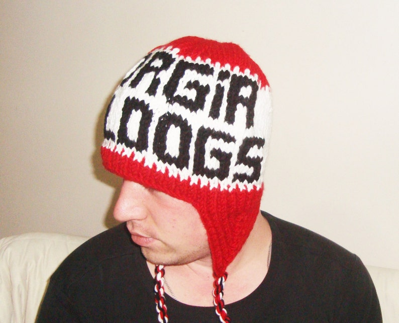 aea6cb8b0c58e Georgia Bulldogs Hat Men Hand Knit Winter Christmas