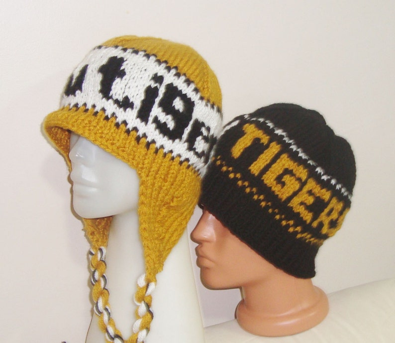 Mizzou Tigers Personalized Gifts For Dad Winter Hand Knit Hat Mens Hats Winter Accessories