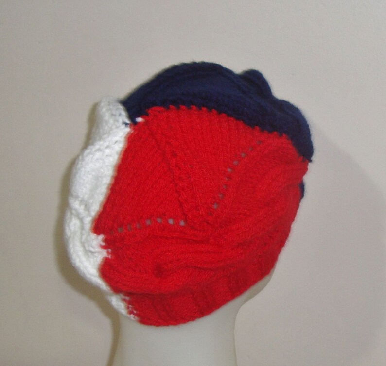 ce43d6e449c Knit France Flag Hat Hand knit French hat handknit beanie