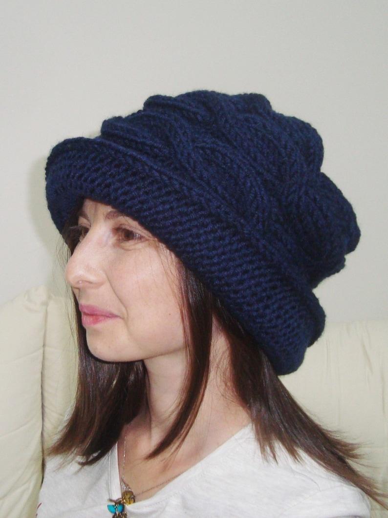a681cdb392 Womens Hats Winter Trendy With Brim Knit Women s Hats
