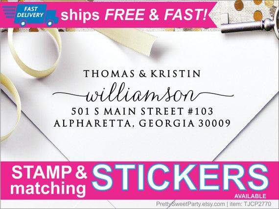 return address stamp custom self inking address stamp etsy