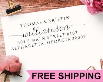 Return Address Stamp, Self Inking Address Stamp, Calligraphy Address Stamp, Wedding Address Stamp, Personalized Address Stamp TJCP2770
