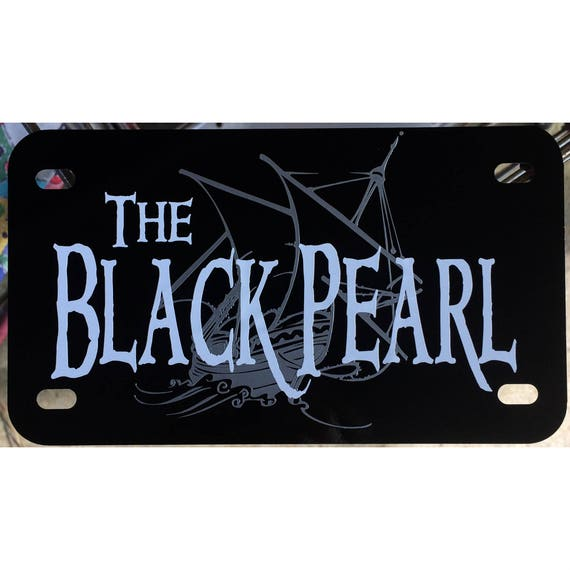 My Other Ride Is The Black Pearl License Plate Framepirates Of The