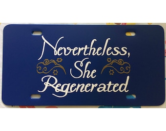 Doctor Who 13th Doctor License Plate Time Lady Car Tag