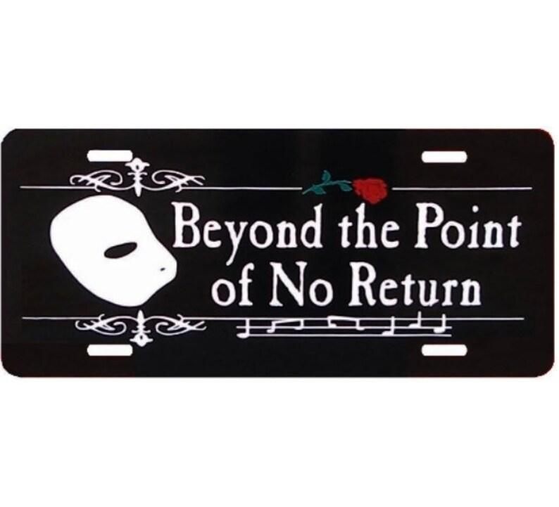 Phantom Der Oper über Den Punkt Ohne Rückkehr Nummernschild Auto Tag