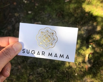 Business cards for rose designs in flint michigan raised etsy business cards for sugar mama in stanton ca raised gold foil business cards wax artist spray tanning sugaring colourmoves