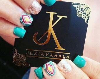Papier Cartes De Visite Pour Maquilleuse Salon Manucure Blogueuse Beaute Cils Coiffure Ongles Artiste Mode