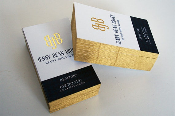 32pt silk business cards with gold foil and painted edges etsy image 0 colourmoves