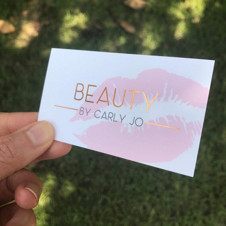 Cartes De Visite Papier Pour Cheveux Salon Beauty Blogger