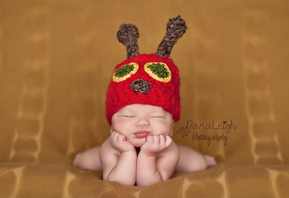 Caterpillar Hat And Cocoon Pattern Crochet Newborn Photo Etsy