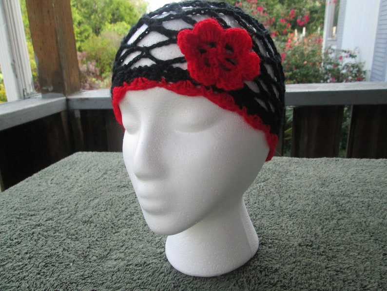 3b2058441cfd Baby Girl Red Formal Cloche Hat Crocheted by SuzannesStitches