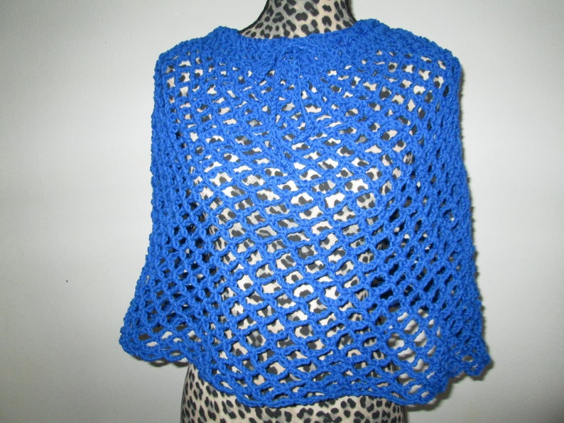 3d04ea4fc22a Girls Teens and Womens Blue Poncho Skirt Crocheted by