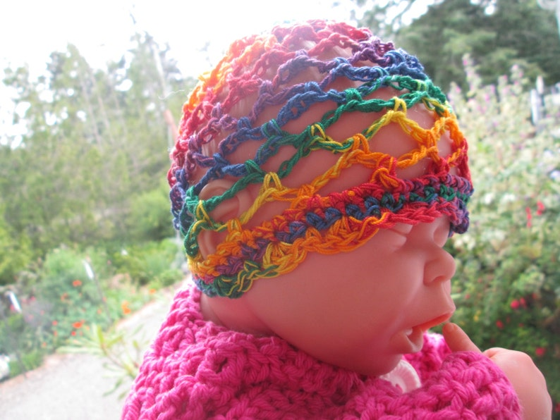 Baby Girl Sun Hat Baby Girl Summer Hat Baby Girl Cotton Sun Hat Newborn-12 Month Baby Girl Cotton Sun Hat Crocheted by SuzannesStitches